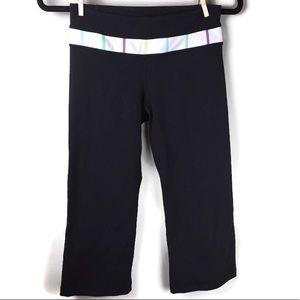 Lululemon Groove Crop Rainbow Stitch Yoga Pants 4